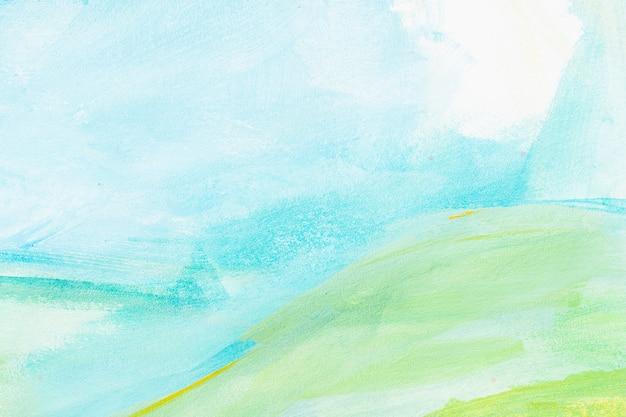 水の色の抽象的な背景絵 Premium写真