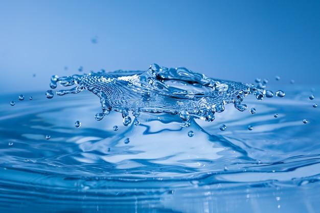 Water drop collision Premium Photo