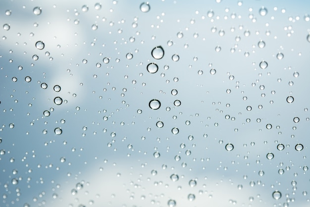 Water drops on glass Free Photo