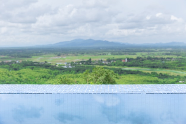 Water pool with nature landscape mountain Premium Photo