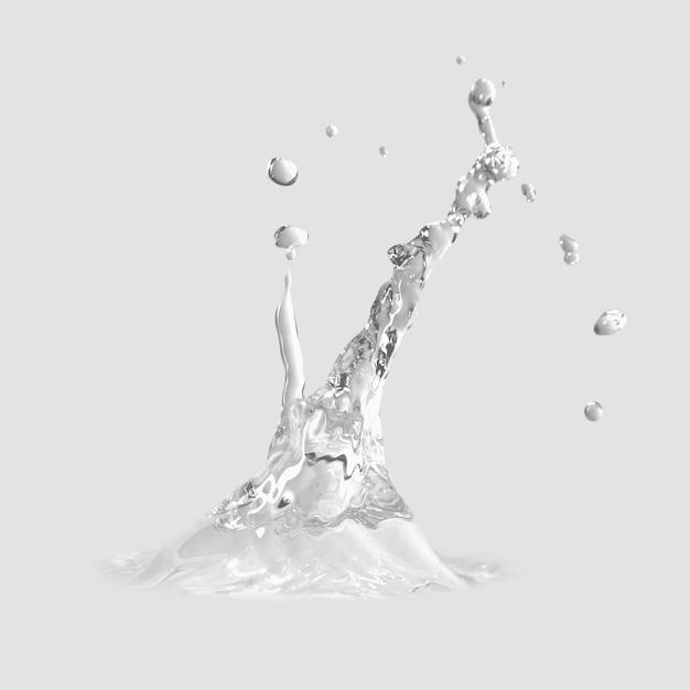 Spruzzi d'acqua su un grigio Foto Gratuite