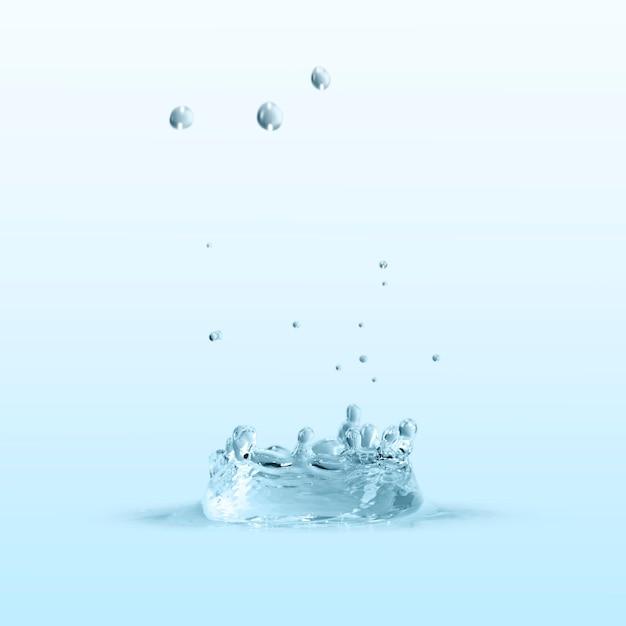 青い壁紙の水のしぶき 無料写真