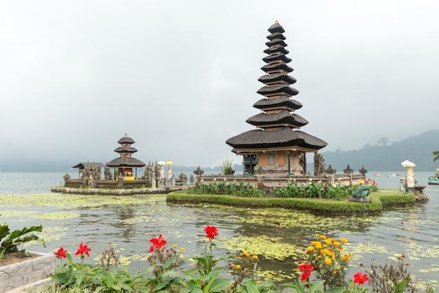 Water temple at bratan lake Free Photo