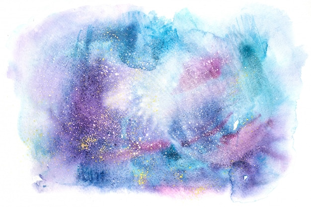 Watercolor abstract painting texture background Premium Photo