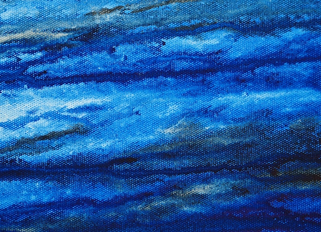テクスチャと紙の抽象的な背景の水彩画の青い絵 Premium写真