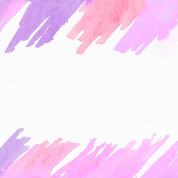 Watercolor brushstroke design on white background Free Photo