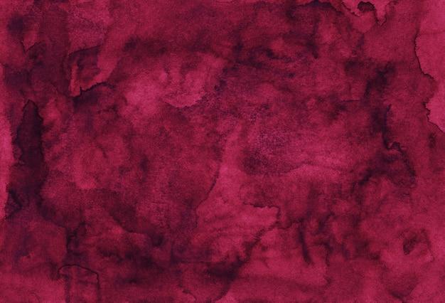 Акварель бордовый фоновой текстуры ручной росписью. урожай акварель глубокий малиновый фон. пятна на бумаге. Premium Фотографии