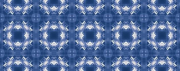 수채화 세라믹 타일 기하학적 배경입니다. 블루 완벽 한 패턴입니다. 프리미엄 사진