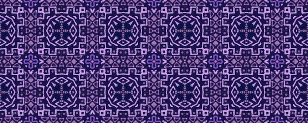 Watercolor ceramic tile geometric background. purple seamless pattern. Premium Photo
