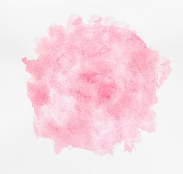 Акварельная копия пространства круглая розовая краска Premium Фотографии