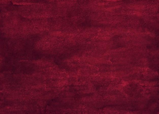Акварель темный бордовый фон живописи текстуры. акварель глубокого красно-розового цвета. старый овелай. Premium Фотографии