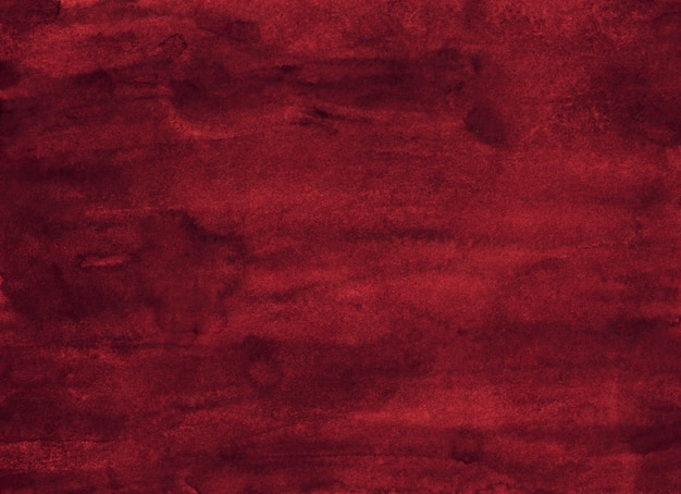 Watercolor dark red background painting texture. Premium Photo