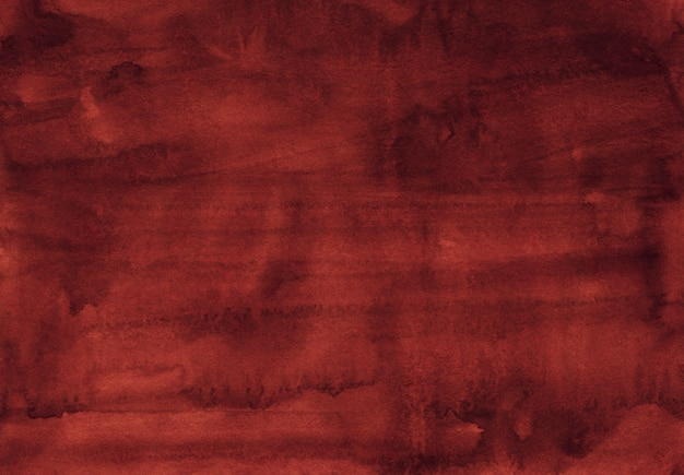 Watercolor dark red texture background hand painted. water color old dusty red color background Premium Photo