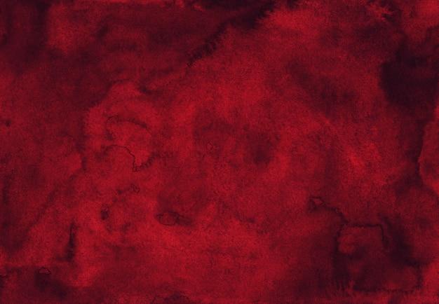 수채화 깊은 붉은 질감 배경 손으로 그린. 수채화 레드 와인 색 배경입니다. 프리미엄 사진