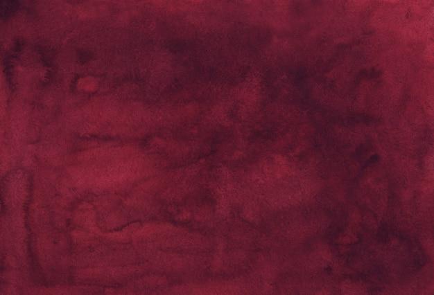 수채화 우아한 먼지가 부르고뉴 배경 질감. 빈티지 물 색 깊은 크림슨 배경 프리미엄 사진