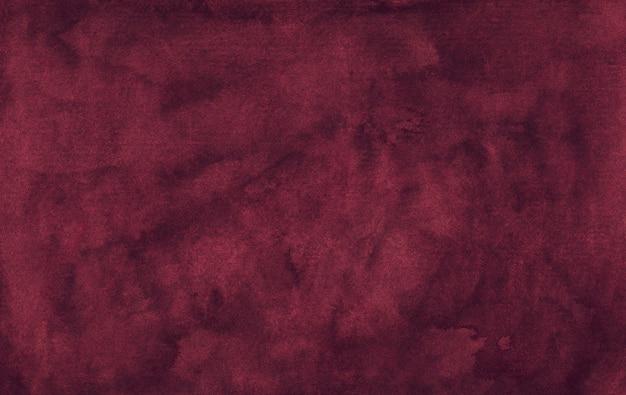수채화 우아한 먼지가 진홍색 배경 텍스처입니다. 빈티지 워터 컬러 깊은 부르고뉴 배경 프리미엄 사진
