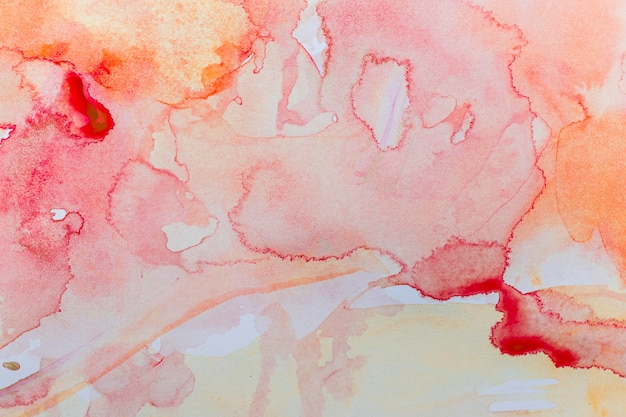 Sfondo colorato caldo sfumato dell'acquerello Foto Gratuite