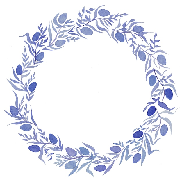 花輪、イースター、招待状と水彩イラスト Premium写真