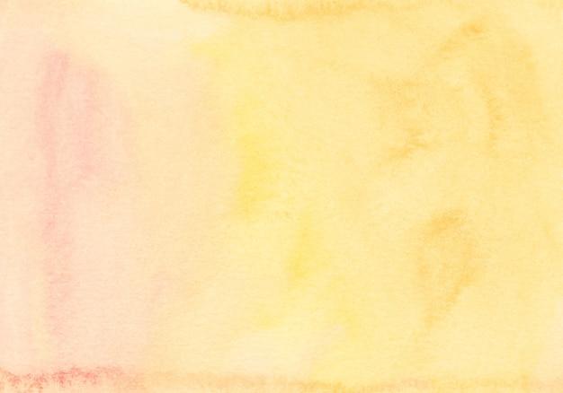 Watercolor light yellow and orange background texture Premium Photo