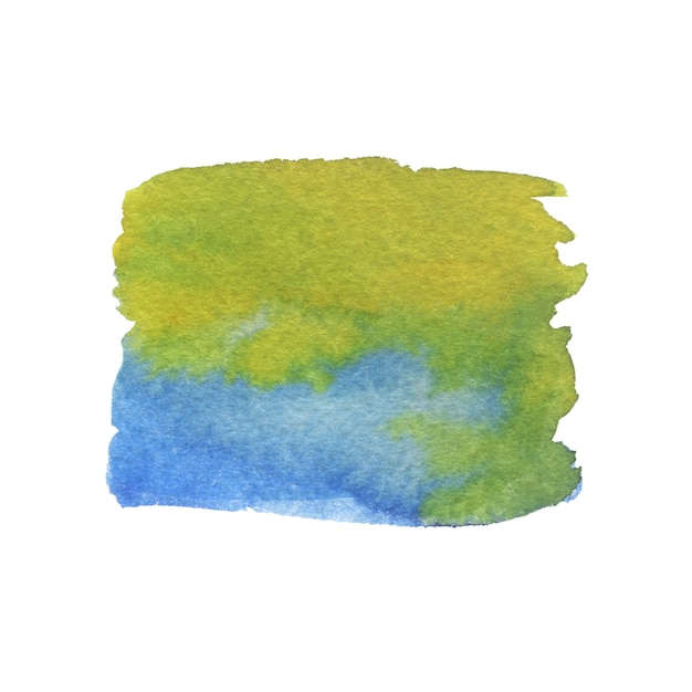 Watercolor painting texture. green and blue colors. Premium Photo