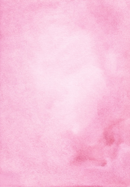 Watercolor pastel pink background hand painted. aquarelle light pink stains on paper. Premium Photo