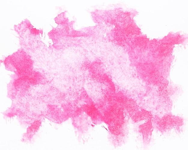Акварель розовая краска всплеск Premium Фотографии