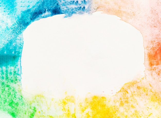 Watercolor rainbow with copyspace background Free Photo