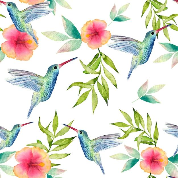 Watercolor seamless pattern. modern stylish texture. Premium Photo