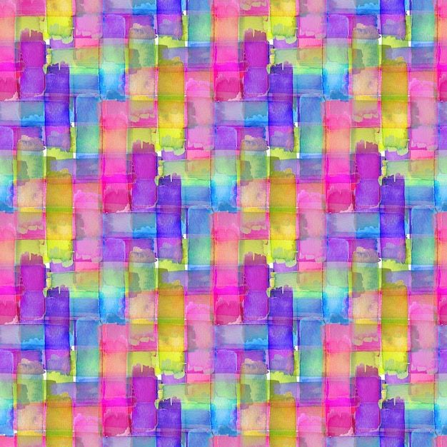 Watercolor seamless pattern with colorful texture. modern textile design. Premium Photo