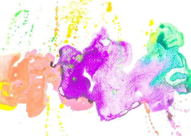 Watercolor stained on white background Free Photo