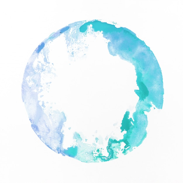 Watercolor staint blue Free Photo