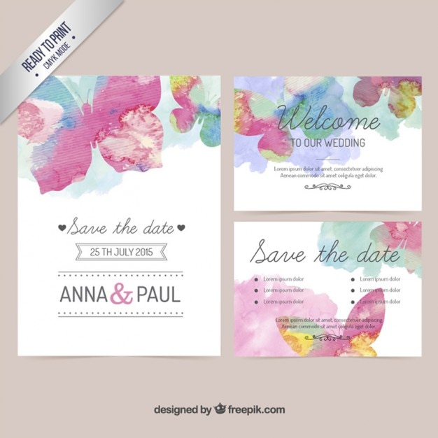 Watercolor Templates Free Pasoevolistco - Wedding invitation free downloadable templates