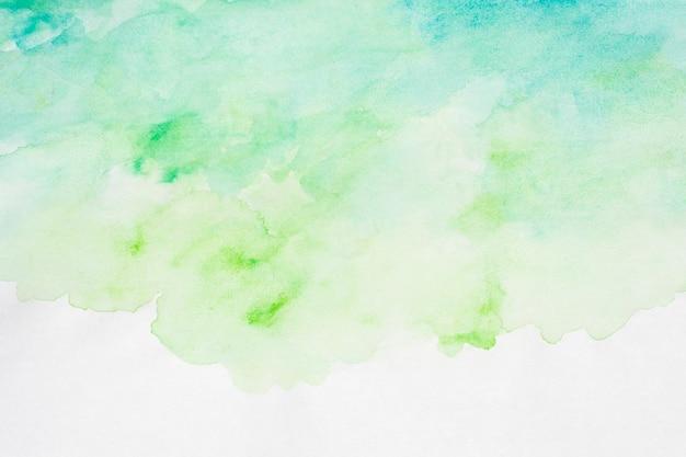 水彩アートハンドペイントグラデーション緑の背景 Premium写真