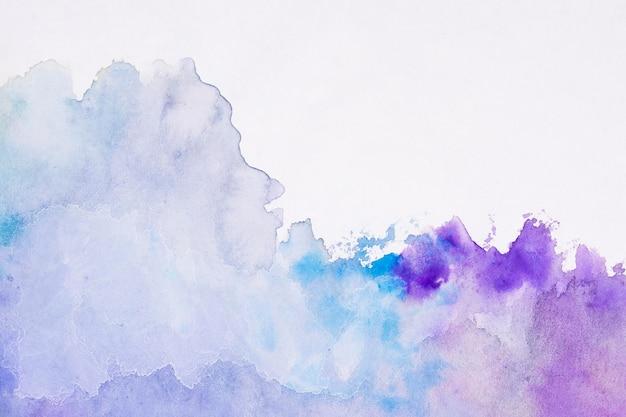 水彩アートハンドペイントグラデーションバイオレット背景 無料写真