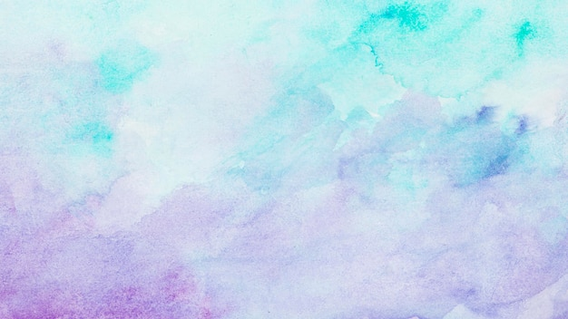 수채화 파란색과 보라색 페인트 추상적 인 배경 프리미엄 사진