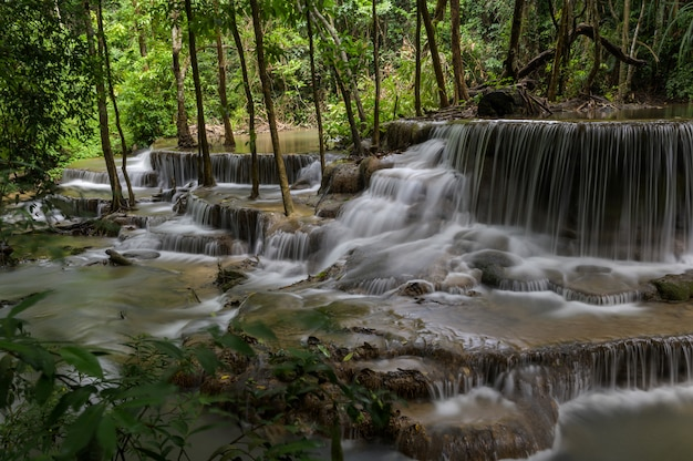 Waterfall that is a layer in thailand Free Photo