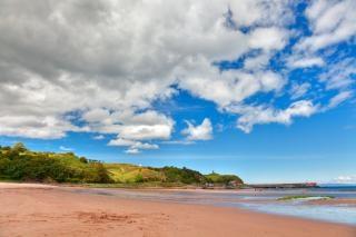 Waterfoot пляж hdr-синих Бесплатные Фотографии