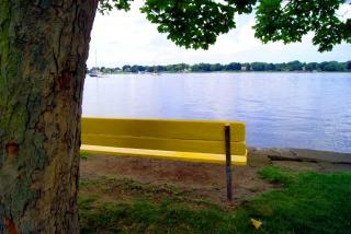 Waterfront bench Free Photo