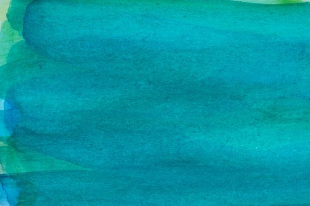 水色の青い抽象的な水彩画マクロテクスチャ背景 無料写真
