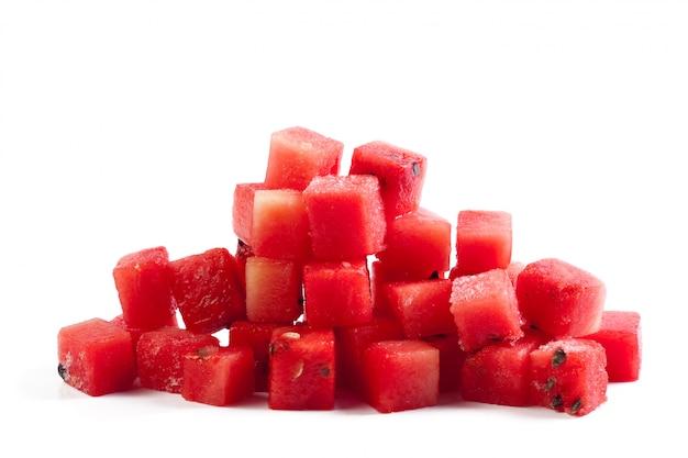 Watermelon fruit cube slice Premium Photo