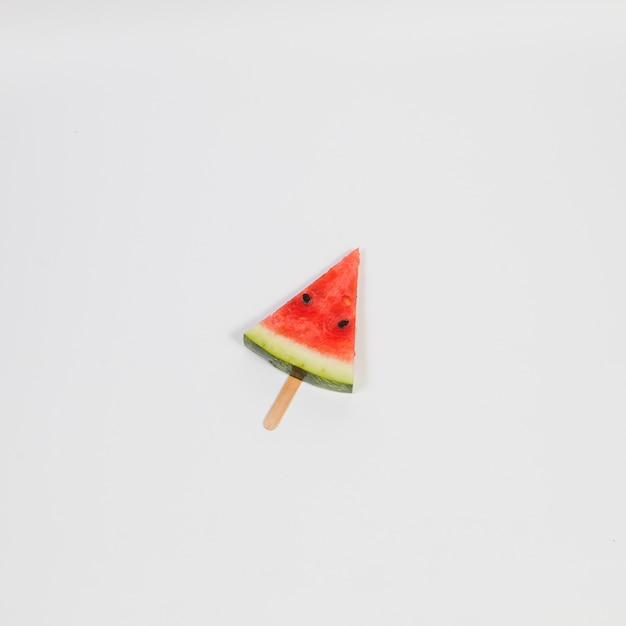 Watermelon ice-cream on stick Free Photo