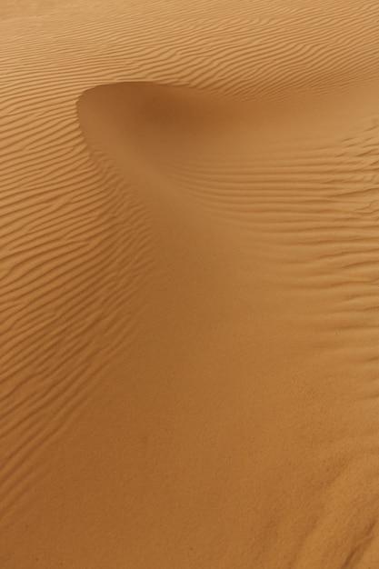 砂のテクスチャの波、砂漠の砂丘。 Premium写真