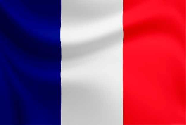 Waving of france flag. Premium Photo
