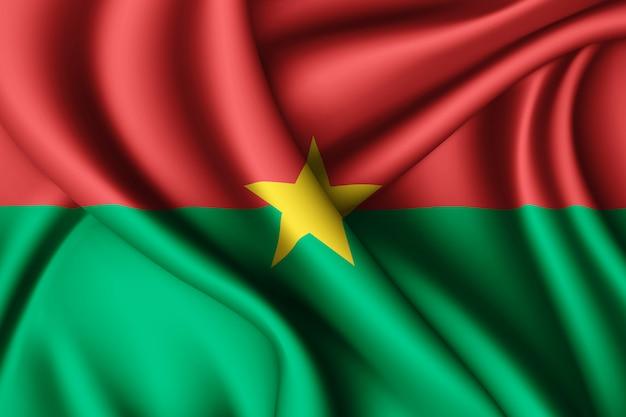 ブルキナファソの旗を振る Premium写真