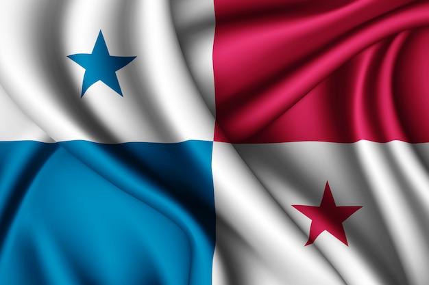 パナマのシルク旗を振る Premium写真