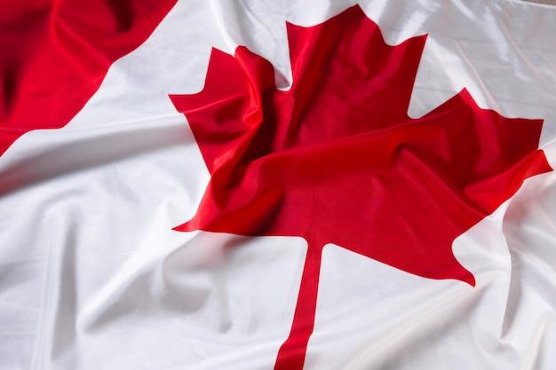 Wavy canadian flag Premium Photo