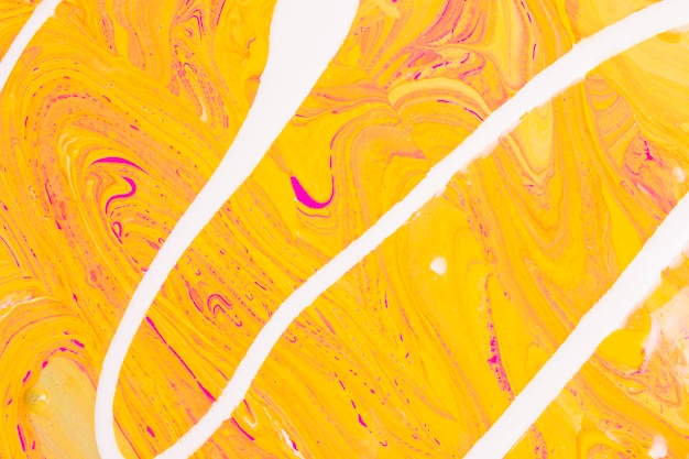 Wavy line on orange background Free Photo