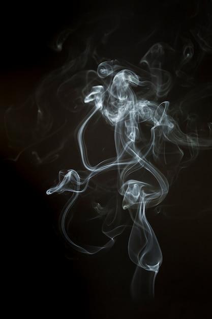 Wavy steam silhouette Free Photo