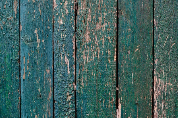 Weathered painted wooden boards texture background Premium Photo