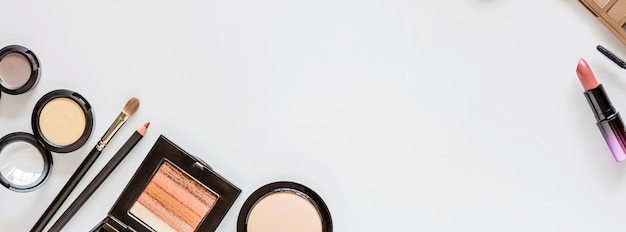 Web banner with cosmetics Premium Photo